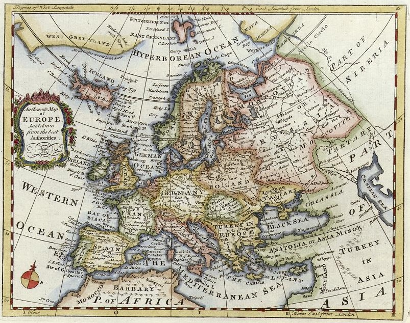 European map from 1730
